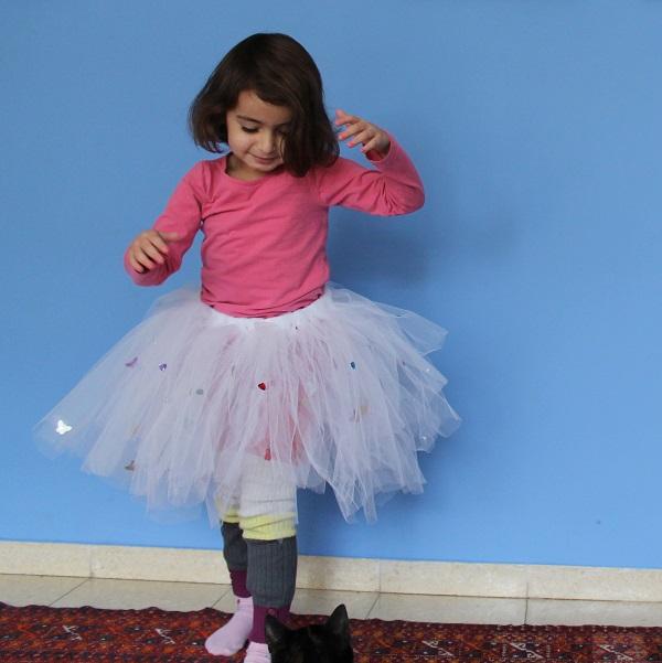חצאית טוטו לנסיכה-פיה-רקדנית