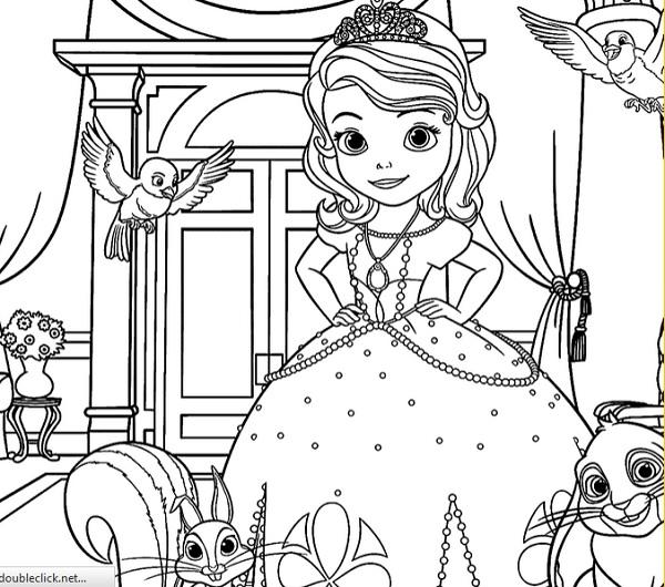 דפי צביעה הנסיכה סופיה