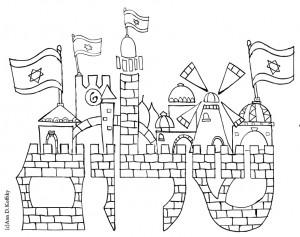 יום ירושלים – דפי צביעה ופעילויות